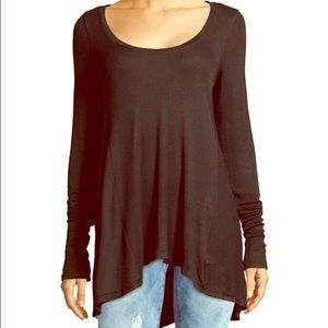 Free People black long sleeve size small tunic